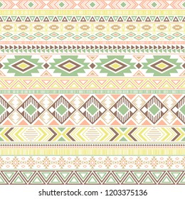 Aztec american indian pattern tribal ethnic motifs geometric vector background. Unusual native american tribal motifs clothing fabric ethnic traditional design. Mexican folk fashion.