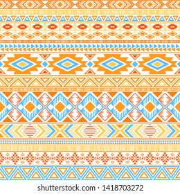 Aztec american indian pattern tribal ethnic motifs geometric vector background. Rich native american tribal motifs textile print ethnic traditional design. Mayan clothes pattern design.