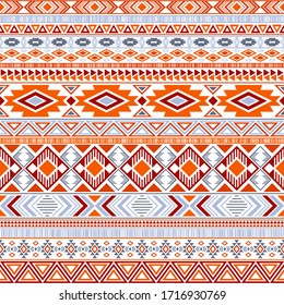 Aztec american indian pattern tribal ethnic motifs geometric seamless background. Cool native american tribal motifs textile print ethnic traditional design. Mayan clothes pattern design.