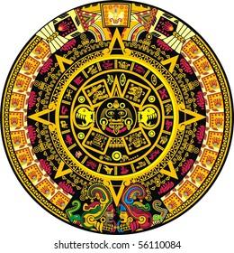 Aztec Calendar Color