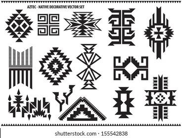 Aztec decorative vector set