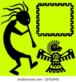 Aztec design elements,Vector.