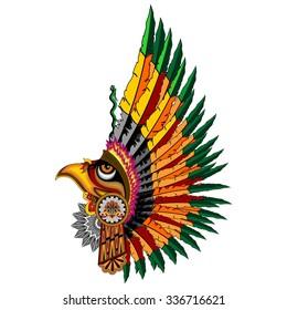 Aztec Eagle Warrior Mask