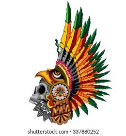 Aztec Eagle Warrior Skull