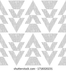 Aztec elements. Patterned texture. Ethnic boho ornament. Seamless background. Tribal motif. Vector illustration for web design or print.