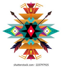 Aztec ethnic print background