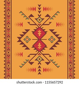 Aztec geometric seamless pattern. Native american, indian southwest print. Ethnic design wallpaper, fabric, cover, textile, weave, wrapping..