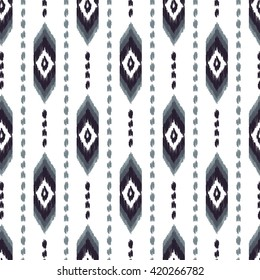 Aztec seamless pattern. American native ethnic textile print. Hipster striped ornament. Navajo abstract background. A design may be used for wallpaper, fashion fabric, wrapper.