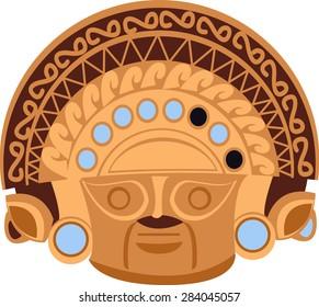aztec statue head