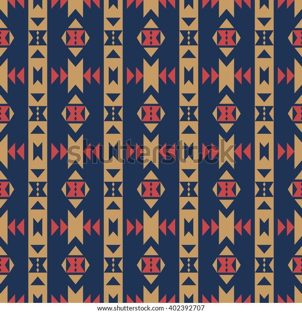 Aztec Stylized Abstract Wallpaper Seamless Pattern Stock