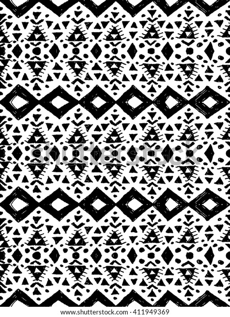 Aztec Tribal Mexican Seamless Pattern Hipster Stock Vector (Royalty