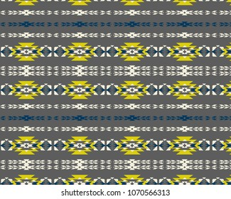 aztec tribal pattern, vector illustration, for print on paper or fabric.