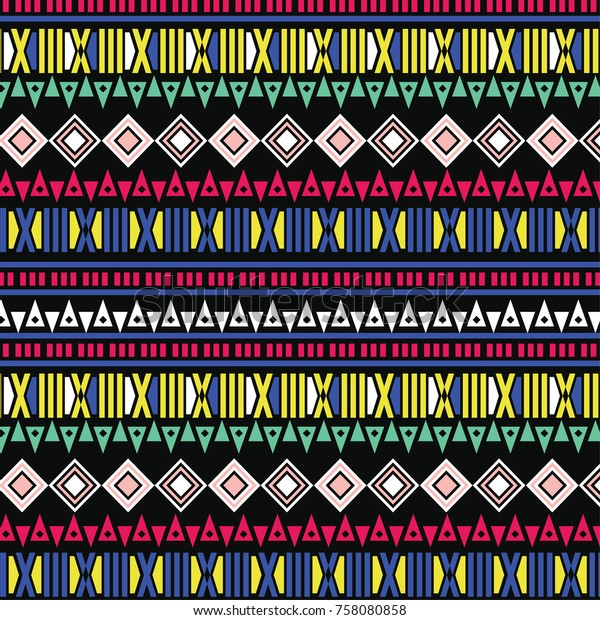 Aztec Tribal Pattern Vector Wallpaper Textile Stock Vector (Royalty