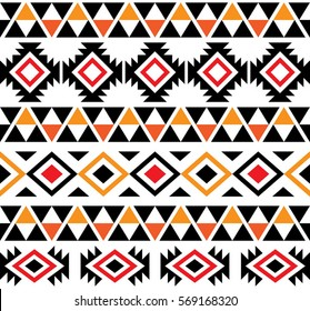 Aztec Tribal Seamless Pattern Design