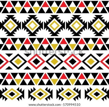 Aztec Tribal Seamless Pattern Design Stock Vector (Royalty Free