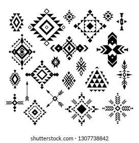 Aztec/ Tribal shapes, symbols collection vector set