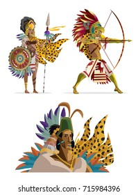 aztec warriors and ruler