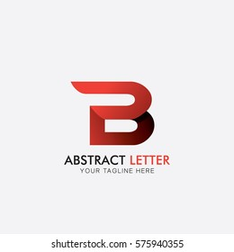 B abstract letter concept logo template with different background