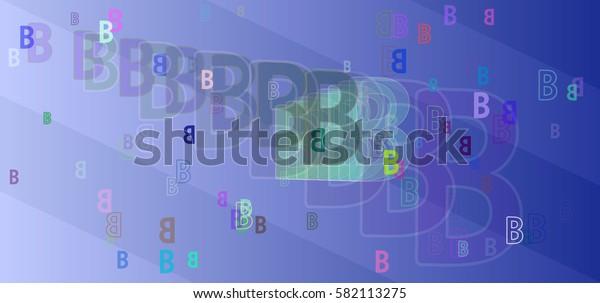 B Alphabet design texture