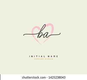 B A BA Beauty vector initial logo, handwriting logo of initial signature, wedding, fashion, jewerly, boutique, floral and botanical with creative template for any company or business.