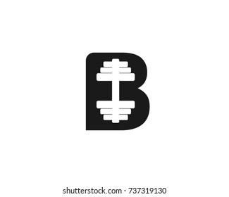 B barbell logo