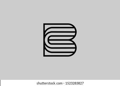 B BC CB Letter Linked Luxury Premium Logo
