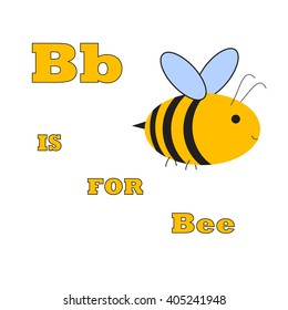 b is for bee abstract alphabetical bee vector illustration