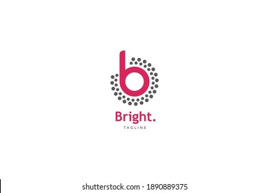 B Bright technology Company Logo for business that concern with light and lamp product