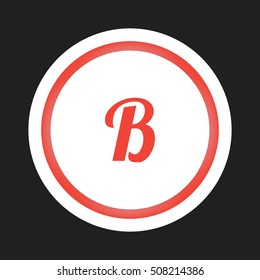B business logo icon design template elements in circle background logo, design identity in circle, alphabet letter