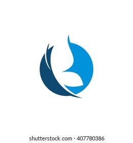 B butterfly elegance technology symbol