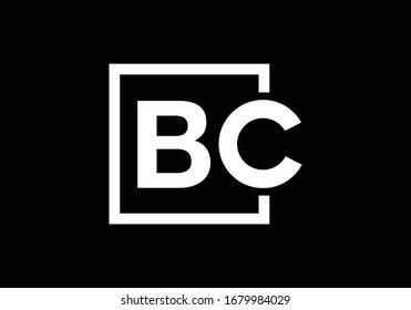 B C, BC Initial Letter Logo Design Vektorillustration Template, Graphic Alphabet Symbol für Corporate Business Identity