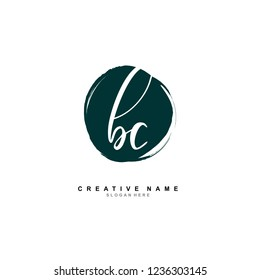 B C BC Initial logo template vector. Letter logo concept