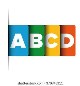A B C D letter progress bar