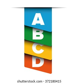 A B C D letters progress bar