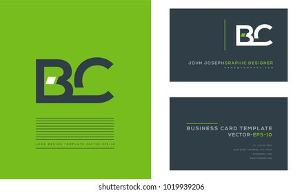 B C, B & C Letters joint logo icon with business card vector template.