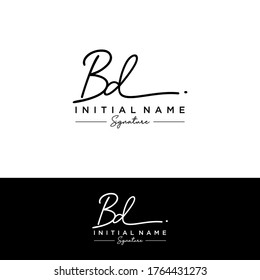 B D BD Initial letter handwriting and signature logo.