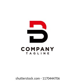 B and D logo template vector