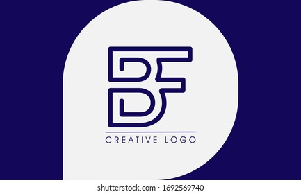 B & F Letter Logo icon elements. Creative Graphic Alphabet Symbol for Corporate Business Identity. Typographic Concept Icon design template