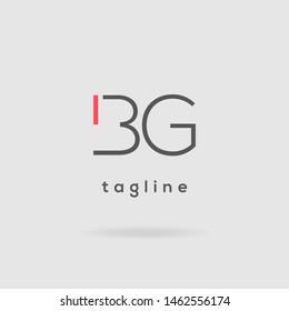 B G double letter logo design vector template