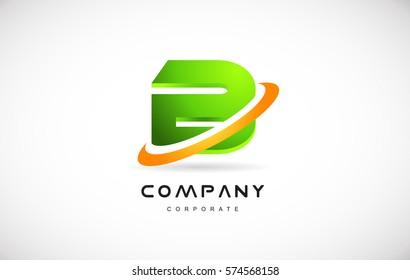 b green 3d letter technology media alphabet vector company logo icon sign design template