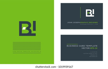 B I, B & I Letters joint logo icon with business card vector template.
