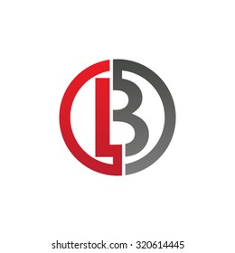 B initial circle company or BO OB logo red