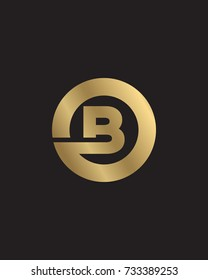 B initial circle company logo gold black background