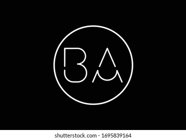 B A Initial Letter Logo design vector template, Graphic Alphabet Symbol for Corporate Business Identity
