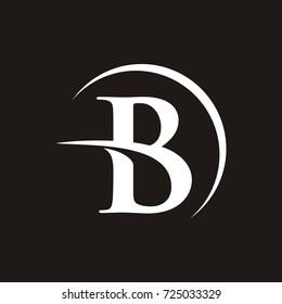 B initial letter logo design template vector