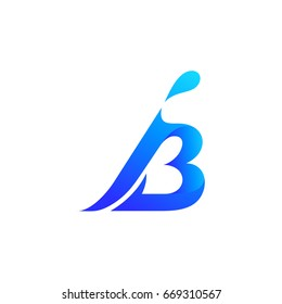 I And B Initial Logo Template