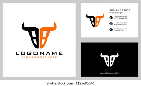 B B initial logo template vector