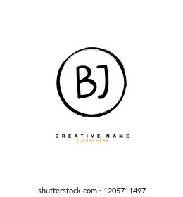 B J BJ Initial abstract logo concept vector