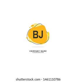 B J BJ Initial logo template vector