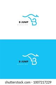 B jump logo template.
